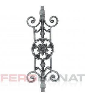 Decorative D42(2) frunza elemente tabla premium din fier forjat balcon balustrada garduri