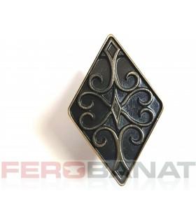 Butoni metal 1 romb alamit sertare mobila accesorii mobilier