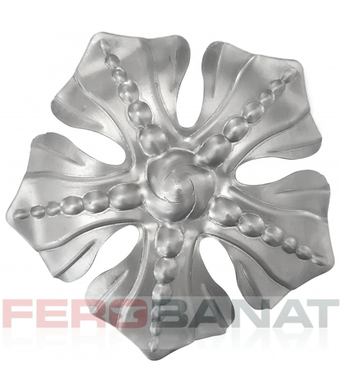 Floare fier forjata F75 tabla rozeta decoratiuni poarta