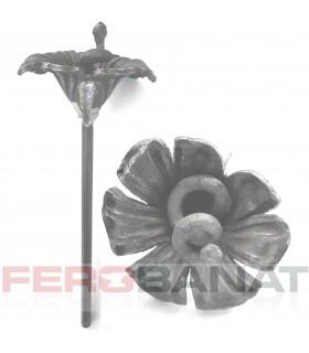 Floare fier forjata F72 turnata rozeta decoratiuni poarta
