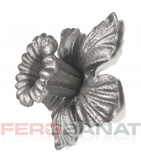Floare F9 P turnata fier forjata premium rozeta