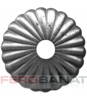 Floare F13 fier forjata tabla rozeta