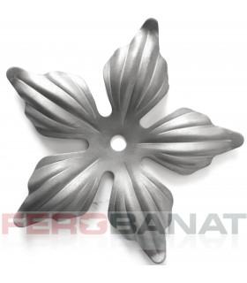 Floare F14gP fier forjata premium tabla rozeta