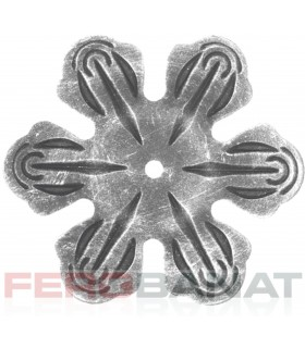 Floare F15 fier forjata tabla rozeta