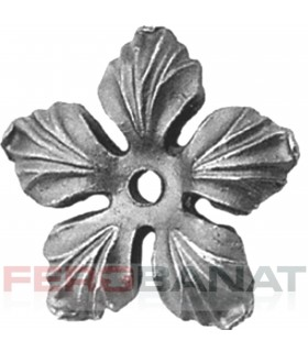 Floare F14g turnata fier forjata rozeta
