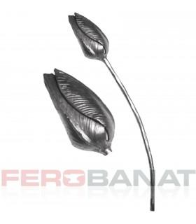 Floare F18 fier forjata lalea rozeta