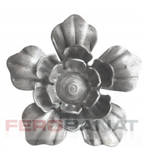 Floare F24 fier forjata tabla rozeta