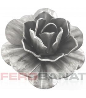 Floare F27 fier forjata tabla trandafir rozeta