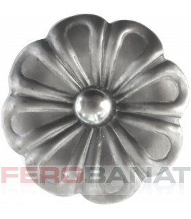 Floare F30 fier forjata tabla rozeta
