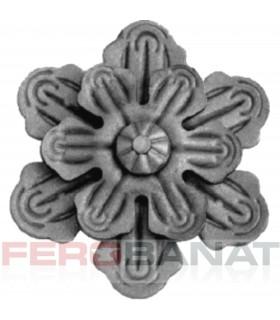 Floare F32 fier forjata tabla rozeta