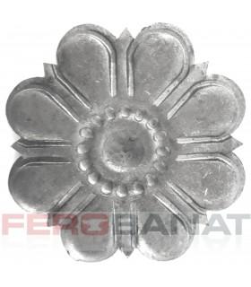 Floare F35 fier forjata tabla rozeta