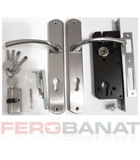 Broasca SM85EC/NI cu butuc manere si silduri cheie incuietoare usa poarta