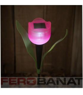 Lampa solara lalea mica proiector iluminat reflectoare gradina