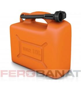 Canistra carburanti 10l plastic cu palnie masina
