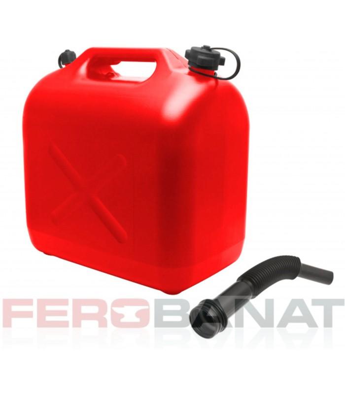 Canistra carburanti 20l plastic cu palnie masina