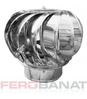 Capace cos rotative sferice inox 120mm, 150mm sau 200mm ventilatie acoperisuri casa