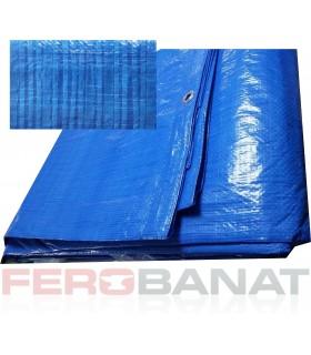 Prelata cu inele 80g/mp albastra rafie impletita acoperitoare protectie soare ploaie