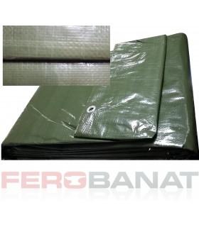 Prelata cu inele 120g/mp verde rafie impletita acoperitoare protectie soare ploaie