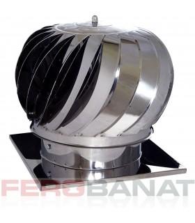 Capace cos rotative sferice inox 200mm cu talpa ventilatie acoperisuri casa