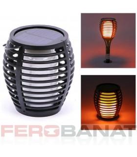 Lampa solara flacara aplicata, tarus sau suspendata proiector iluminat reflectoare gradina
