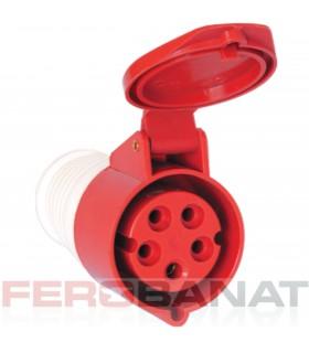Priza mobila 32A/3P+N+E patru poli 400V industriala electrice
