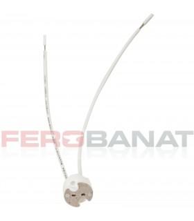 Dulie ceramica GU 5.3 G4 GY 6.35 cu cabluri siliconice instalatii electrice