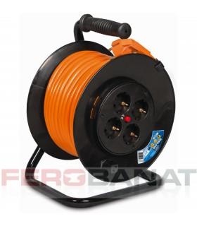 Prelungitor 3x2.5 pe tambur derulator cabluri instalatii electrice