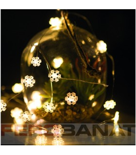 Instalatie lumini fulg 2m brad LED multicolor Craciun ornamente decoratiuni sarbatori
