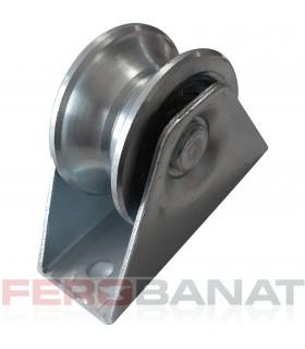 Rola profile U 60mm semirotunda argintie usi culisante role poarta