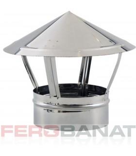 Capace cos palarie inox 120mm, 125mm sau 150mm ventilatie acoperisuri casa