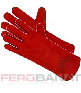 Manusi sudori rosii captusite piele bovina protectie maini sudura