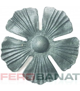 Floare F16 turnata fier forjata rozeta balustrada poarta