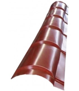 Coama semirotunda metalica