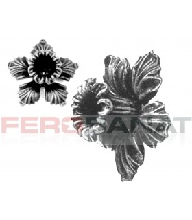 Floare F9 turnata fier forjata rozeta