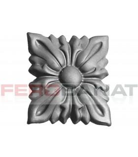 Floare fier forjata F40 tabla rozeta porti garduri