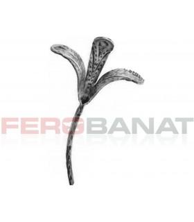 Floare fier forjata F67 amprentata rozeta