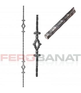 Montanti M22/2 drepti premium panouri balustrada forjata garduri
