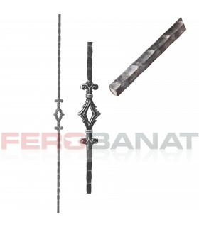 Montanti M22/1P drepti premium panouri balustrada forjata garduri