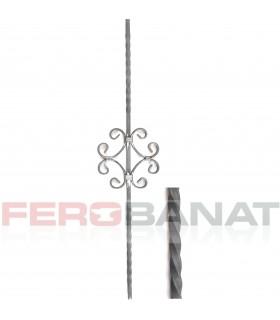 Montanti M28/1 drepti panouri balustrada amprentata garduri