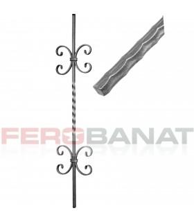 Montanti M33/2 drepti panouri balustrada amprentata garduri