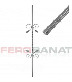 Montanti M39/2 drepti panouri balustrada garduri