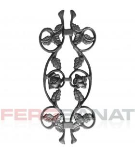 Decorative D9 trandafiri elemente turnate premium din fier forjat balcon balustrada garduri