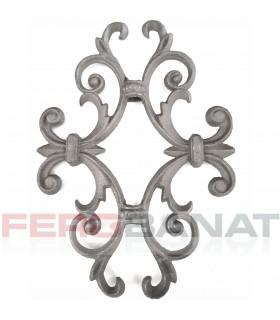 Decorative D25 rozete elemente turnate premium din fier forjat balcon balustrada garduri